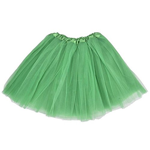 BellaSous Top Rated Classic Elastic Ballet-Style Adult Tutu Skirt, by Great Princess Tutu, Adult Dance Skirt, Petticoat Skirt Or Pettiskirt Tutu for Women. Tulle Fabric - Kelly Green (Neon Green Organza Tutu)