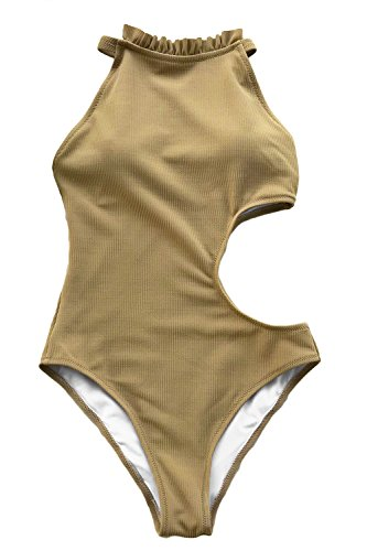 Cupshe Fashion Women's Elegant Encounter Ruffles One-Piece Swimsuit Small