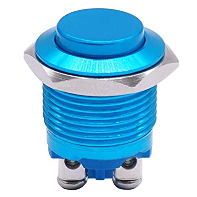 Twidec / 16mm Waterproof Blue Metal Shell Momentary Raised Top Push Button Switch 3A/12~250V SPST 1NO Start Button for car Modification Switch(Quality Assurance for 1 Years) M-16-BU-G: Industrial & Scientific