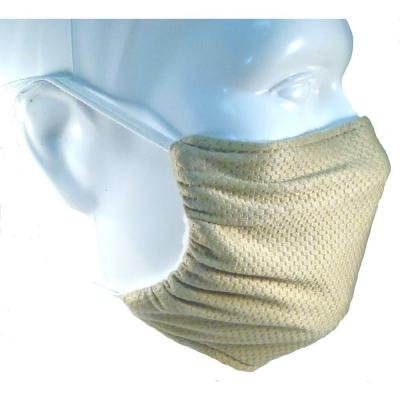 Comfy Mask - Elastic Strap Dust Mask By Breathe Healthy - Lawn & Garden, Woodworking, Dust, Drywall & Sanding - Beige