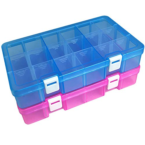 18 Dividers Detachable Jewelry Box Organizer Case for Pills Beads Crafts