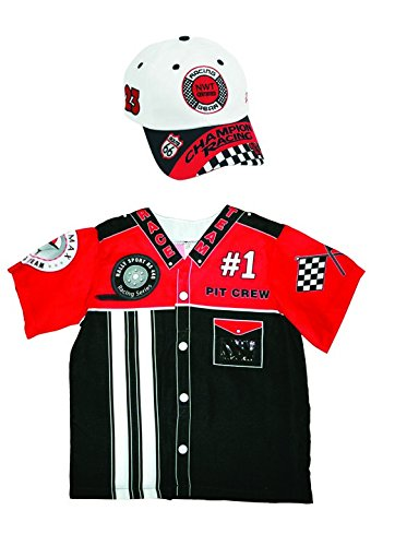 Aeromax My 1st Career Gear Pit Crew Shirt and Racing Cap (2 Piece Bundle).]()