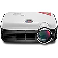 LightInTheBox 2000 Lumens Video Projector LCD LED Smart Home Cinema Projector 1080P Full HD Wifi Wireless Home Theater with YPbPr, TV, HDMI Input, USB, VGA Port, 3-in-1 AV In