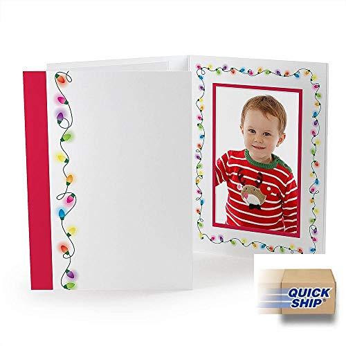 HOLIDAY STRING LIGHTS Photomount Folder 4x6 frame sold in 25