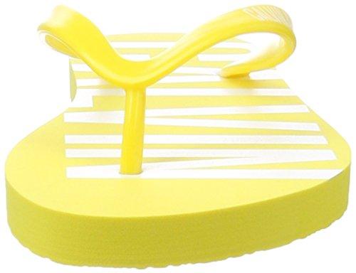 Calvin Klein Ff Sandal, Chanclas para Mujer Amarillo (Buttercup 701)