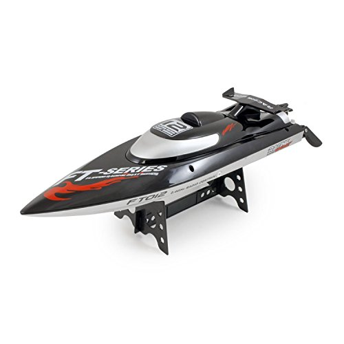 Feilun RC Racing Boat FT012 4CH Brushless Motor Water Cooling High Speed Racing RTR 2.4GHz Upgraded FT009 (Dry Dock Hitch)