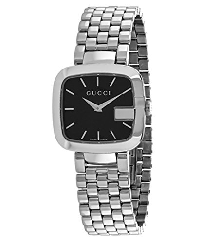 Gucci I-Gucci Black Dial Stainless Steel Ladies Watch YA125416