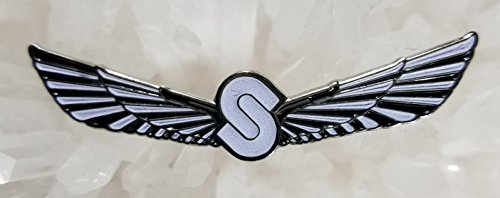 (Sts 9 Sound Tribe Sector 9 String Cheese Incident White Wings Glow Enamel Hat Pin Festival Pin Grateful Dead Pin Dab Pin)