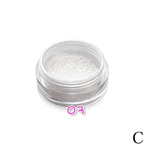 Anshinto Glitter Powder Eyeshadow Makeup Eye Shadow Cosmetics Salon - 10g Powder Colors Satin