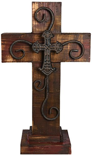 LL Home Standing Maroon Wood Cross