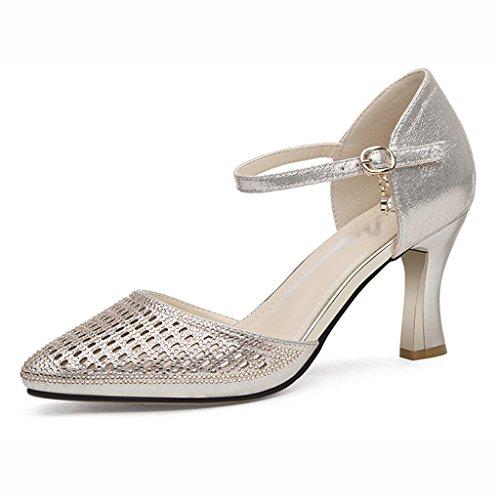 Alte Scarpe Estive Tacchi Single Alti Hwf Oro colore Donna Dimensioni Ms Oro Sandali 35 rqYfXwBYxn