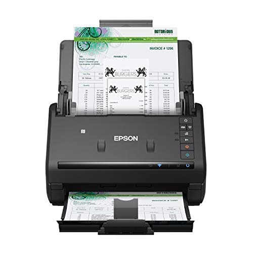 Epson Workforce ES-500WR Wireless Color Receipt &Amp; Document Scanner For PC And Mac, Auto Document Feeder (ADF)