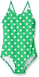 Kanu Surf Toddler Girls\' Suzie Polka Dot 1-Pc Swimsuit, Green, 2T
