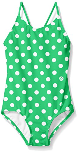 Kanu Surf Big Girls' Daisy Beach Sport 1-Piece Swimsuit, Suzie Green Dot, 8 ()