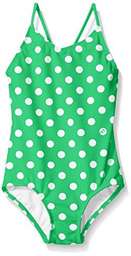 Suit Dot - Kanu Surf Big Girls' Daisy Beach Sport 1-Piece Swimsuit, Suzie Green Dot, 8