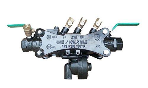 Zurn 375B Wilkins 1-Inch Black Fusion Epoxy Coated Reduced Pressure Principle Backflow Preventer by Zurn