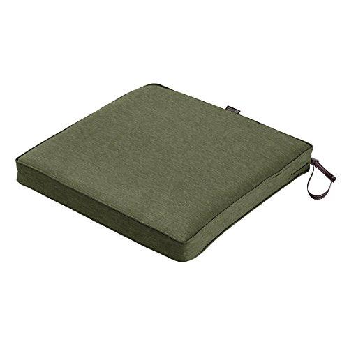 "Classic Accessories Montlake Seat Cushion Foam & Slip Cover, Heather Fern, 20x20x2"" Thick"