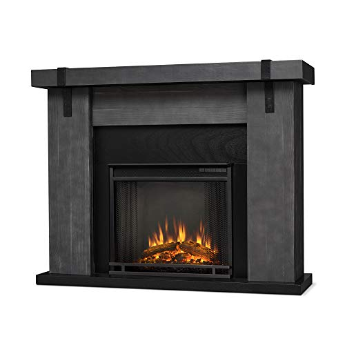 Cheap Real Flame Aspen Electric Fireplace Barn Wood Grey Black Friday & Cyber Monday 2019