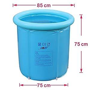 Happy Life Portable Plastic Bathtub Blue Soaking Tubs