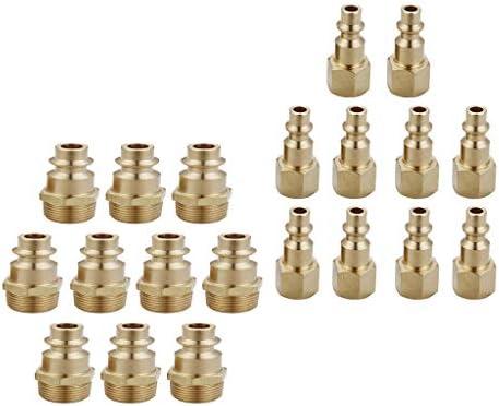 D DOLITY 1/4インチの産業用タイプDの雌ネジと雄ネジの真鍮製クイックカプラプラグ