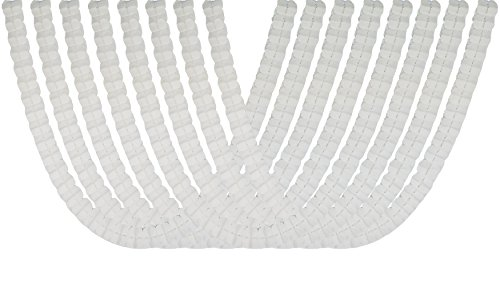 Four Leaf Tissue Paper Hanging Flower Garland for Party Supplies, Wedding Decorations and Streamers Pack of 8 (White) (Ceiling Wedding Decorations White)