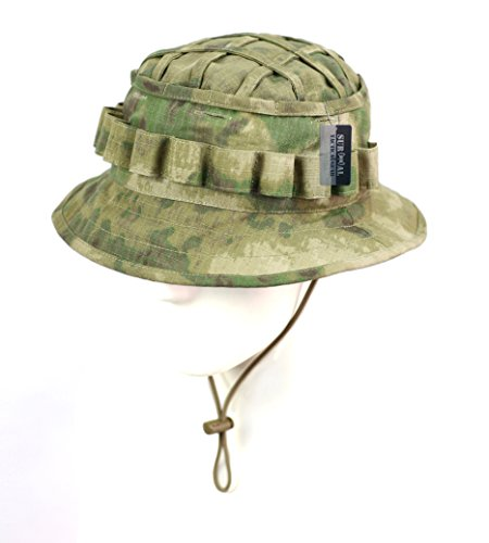 (ZAPT Boonie Hat Military Camo Cap Hunter Sniper Ghillie Bucket Hats Adjustable Jungle Bush Hat (A-TACS FG Camo))