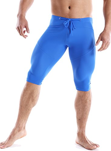 Minaso Men's Compression Base Layer Shorts Bodybuilding Yoga Capris Tights