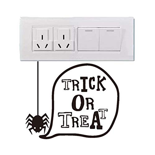 TIVOPA Spider Trick Or Treat Halloween Party Fun Decal Modern Wall Sticker for Kids Nursery Bedroom Art Waterproof Wallpaper Home -