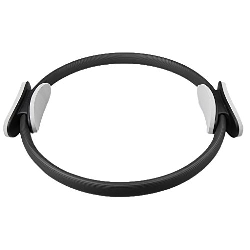 MonkeyJack Pilates Resistance Ring 40cm Dual Grip Handles for Toning,Fitness,Gymnastic,Aerobic
