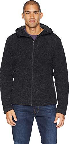 NAU Men's Randygoat Shearling Hoodie Jacket Caviar Heather Large ()