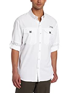Columbia Men's Blood and Guts II Long Sleeve Woven Shirt, White, XX-Large
