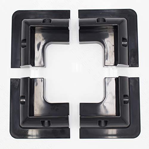 Ochoos 1 Set/lot ABS Black 4PCS/Set Solar Panel Corner Mounting Bracket System for Caravan Motorhome RV