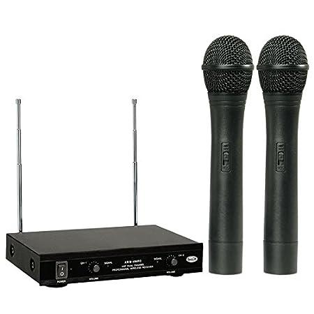 AHUJA AWM 490V2 Dual PA Wireless Microphone Black  Wireless