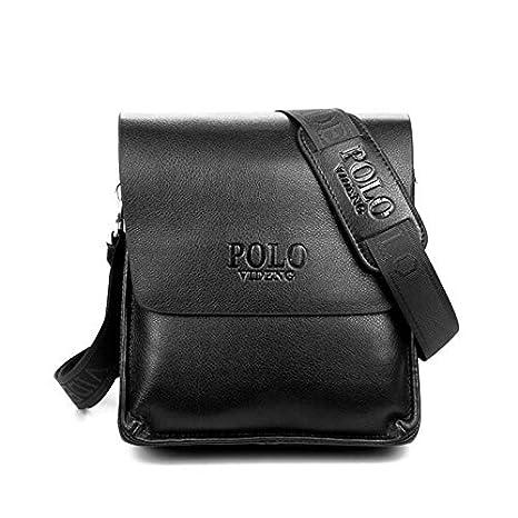 Amazon.com: Bolsas de piel para hombre, estilo informal ...