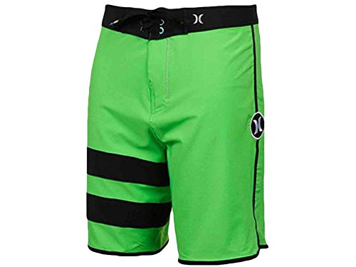 Boys' Hurley Phantom Block Party Boardshorts Green Black BBS0000120-NGRN (Hurley Kids Boys Shorts)