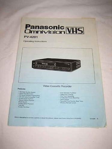 panasonic omnivision vhs vcr manual operating instructions rh amazon com panasonic vcr manual panasonic omnivision vcr manual