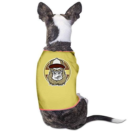 NT Huatou Stylish Dog Shirts Skate Gorilla with Cap Pet Costume for Pet Dogs Cats Soft and Breathable Yellow 30 ()
