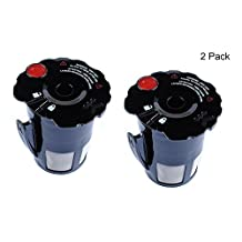 Podoy 2 Pack Small Coffee Filter Black Reusable Coffee Filter for Keurig 119367 2.0 My K-Cup Updated Model