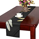 QYUESHANG Animal Dragonfly Insect Isolated Flying Nature Table Runner, Kitchen Dining Table Runner 16 X 72 Inch for Dinner Parties, Events, Decor