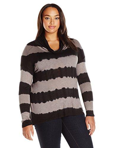 Lucky Brand Women's Plus Size Cowlneck Tunic in, Black/Multi, 3X