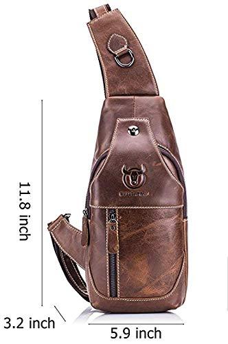 37b33927538 QUORA Men Genuine Leather Business Casual Brown Black Shoulder Crossbody  Bag as Christmas Gift