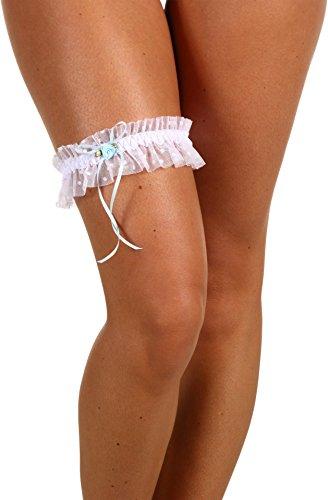 - Hanky Panky Women's Phoebe Leg Garter, White, One Size