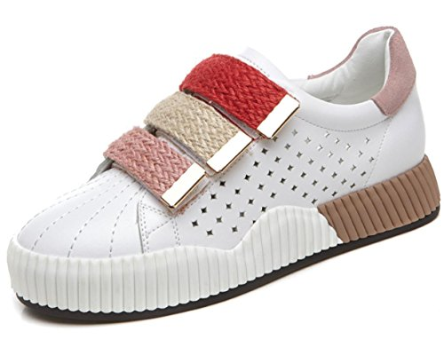 MEI I pattini delle donne di sport autunno di scarpe casuali chiari scarpe bianche spesse scarpe magiche , US7.5 / EU38 / UK5.5 / CN38