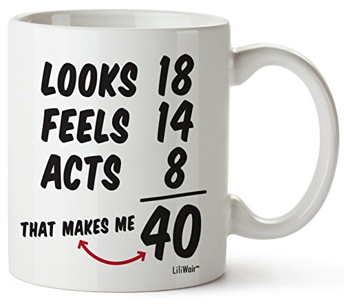 40th Birthday Gifts For Women Forty Years Old Men Gift Mugs Happy Funny 40 Mens Womens Womans Wifes Female Man Best Friend 1979 Male Mug Unique Ideas 79 Woman Wife Gag Dad Cute Girls Guys Good Husband