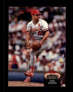 1992 Topps Stadium Club # 67 Jose DeLeon St. Louis Cardinals (Baseball Card) Dean's Cards 8 - NM/MT Cardinals ()
