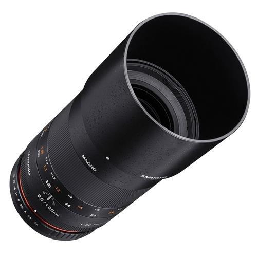 Samyang 100mm F2.8 ED UMC Full Frame Telephoto Macro Lens for Fuji X Interchangeable Lens Cameras by Samyang