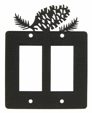 Pinecone Double GFI Rocker Light Switch Plate Cover ()