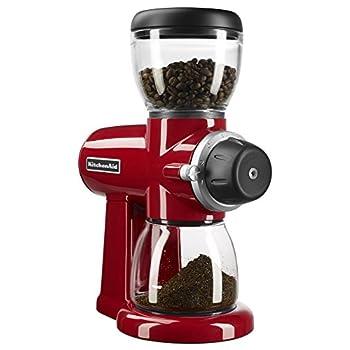 Image of KitchenAid KCG0702ER Burr Coffee Grinder, Empire Red