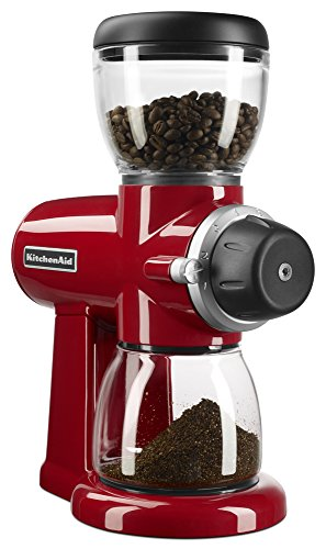 KitchenAid KCG0702ER Burr Coffee Grinder, Empire Red