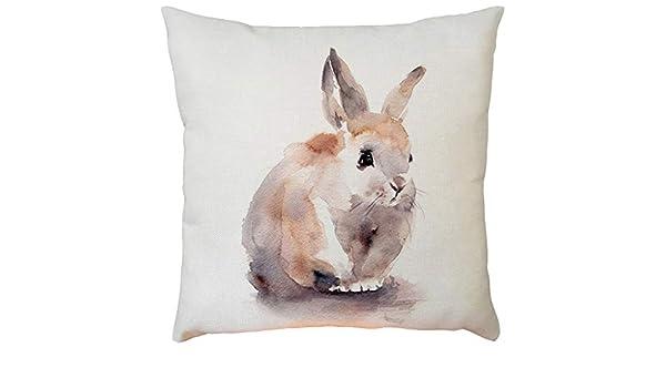 SO-buts - Funda de cojín con diseño de Conejo de Pascua, E ...